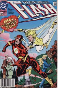 Flash (2nd Series) #59 (Newsstand) VF; DC   save on shipping - details inside
