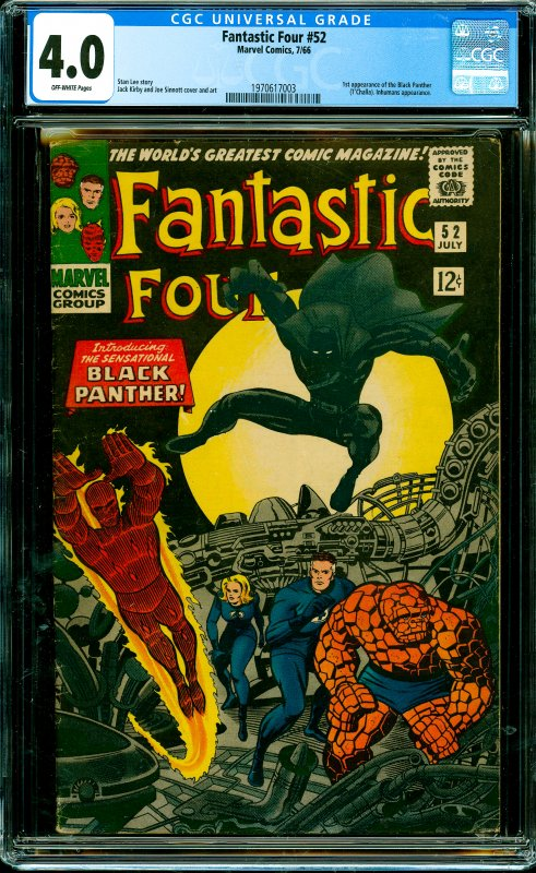Fantastic Four #52 CGC Graded 4.0 1st appearance of the Black Panther (T'Chal...