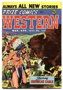 Prize Comics Western #110 1955- Final Precode issue FN-
