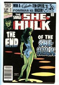Savage She-Hulk #25 Last issue-Marvel NEWSSTAND 1981 VF+