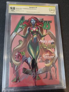 AVENGERS #8 CBCS 9.8 SIGNATURE SERIES SIGNED BY J.SCOTT CAMPBELL.  CAMPBELL STOR