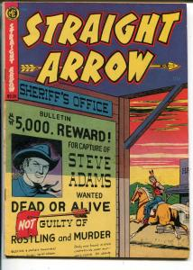 Straight Arrow #26 1952-ME-Red Hawk-Bob Powell-Fred Meagher-wanted poster-G