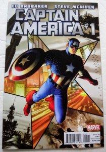 CAPTAIN AMERICA #1 (2011) Ed Brubaker Steve McNiven Marvel Comics ID#MBX2