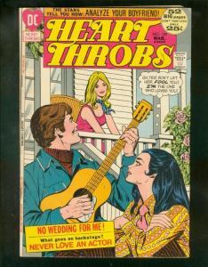 HEART THROBS #139 1972-DC ROMANCE-GUITAR COVER-GIANT FN