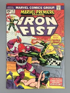 Marvel Premiere #18 (1974) High Grade - Early Iron Fist