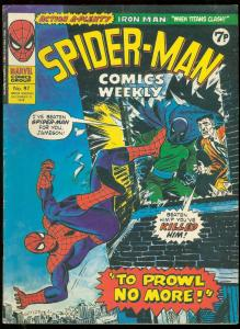 SPIDER-MAN COMICS WEEKLY #97 1974-BRITISH REPRINTS VG