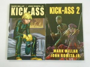 Kick Ass + Kick Ass 2 TPB 6.0 FN (2011 Marvel/Icon)