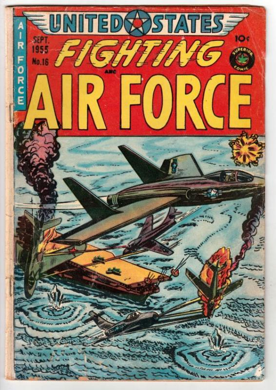 United States Fighting Air Force #16 (Sep-55) VG Affordable-Grade