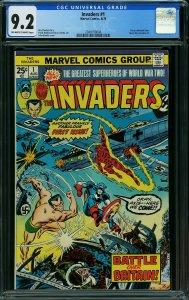 Invaders #1 (Marvel, 1975) CGC 9.2