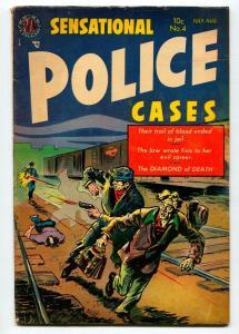 SENSATIONAL POLICE #4 1954-AVON-VG