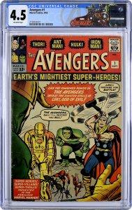 Avengers Graded CGC Set 1 thru 4. All 4 Books