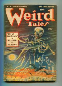 WEIRD TALES MAY 1948-WEIRD TALES-RAY BRADBURY-AUGUST DERLETH-VG-