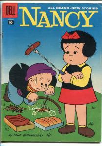 NANCY #157 1958-DELL-ERNIE BUSHMILLER-SLAPSTICK HUMOR-vg/fn