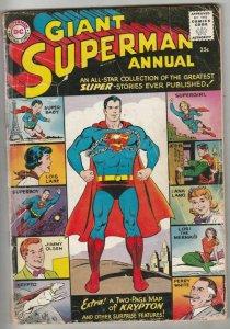 Superman, Giant Annual # 1 Strict GD- Affordable-Grade Origin Braniac, Bizarro