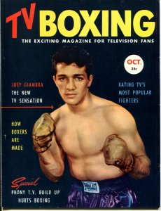TV BOXING #1 10/1953-1ST ISSUE-JOEY GIAMBRA-ROCKY MARCIANO-SOUTHERN STATES-vf
