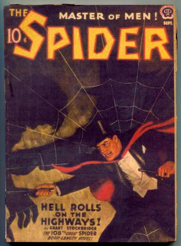 The Spider Pulp September 1942- Hell Rolls on the Highways reading copy