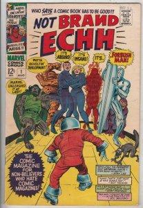 Not Brand Echh #1 (Aug-67) FN/VF+ High-Grade Fantastic Four, Captain America,...