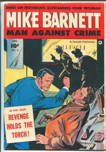 Mike Barnett Man Against Crime #3 1952-Fawcett-TV series-VG