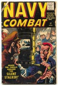 Navy Combat #17 1958- Atlas comics- Maneely cover- Nazi sub cover VG