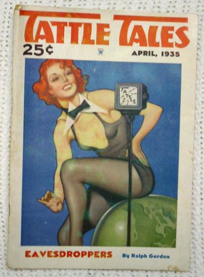 TATTLE TALES-APR 1935-GIRL ART-PULP-R.L. BELLEM VG/FN