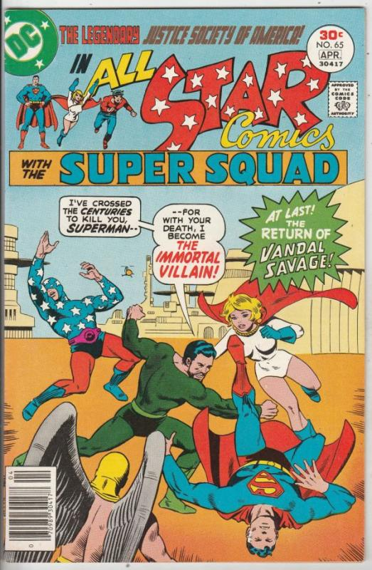All-Star Comics #65 (Apr-77) NM- High-Grade Justice Society of America (Power...