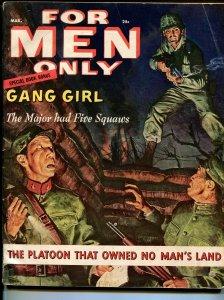 For Men Only 3/1957-Atlas-Laya Raki cheesecake pix-Stanley-De Kuh-VG/FN