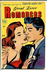 Great Lover Romances #19 1954-Toby-Canadian variant-spicy art-VG
