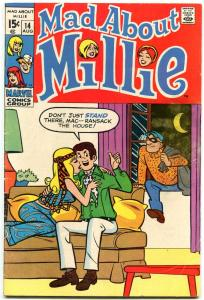 Mad About Millie #14 1970-MARVEL ROMANCE CRIME COVER VG
