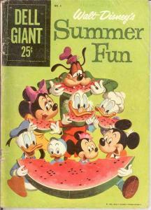 SUMMER FUN (DELL GIANT) 2 FR-G   1959 COMICS BOOK