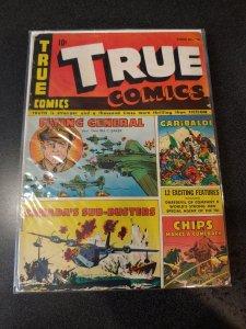 TRUE COMICS #36 GOLDEN AGE CLASSIC VG