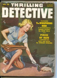 Thrilling Detective 4/1952-Good Girl Art cover-Stewart Sterling-Day Keene--ha...