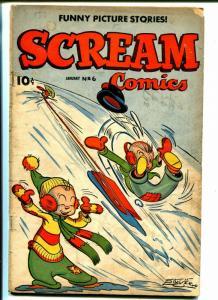 Scream #6 1945-Current Books-Whiz Kids-Robin Hood-li'l Dan'l Boone-G
