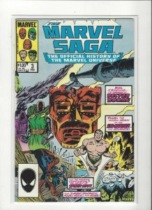 The Marvel Saga the Official History of the Marvel Universe #3 VF/NM