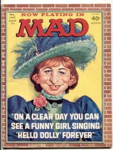 Mad-Magazine #143 1971--Hello Dolly parody cover- Streisand VG
