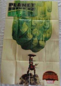 PLANET HULK SECRET WARS  Promo Poster, 24 x 36, 2015, MARVEL, Unused 198