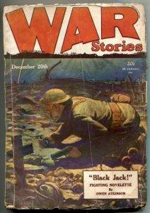 War Stories Pulp December 20 1928- Black Jack G/VG