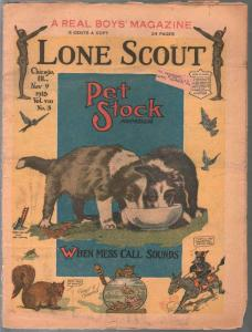 Lone Scout Vol. 8 #3 11/9/1918-A Real Boy's Magazine-5¢ cover price-VG