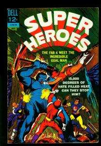 Super Heroes #3 1967- Fab 4 -Corral Man- Dell Silver Age- FN-