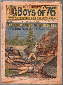 -Boys Of 76 7/13/1906-American Revolution-Brave Bridge Cutter-pulp thrills-G