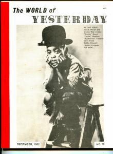 World of Yesterday  #39 12/1982-Stymie-Farina-Buckwheat-Darla Hood-VG