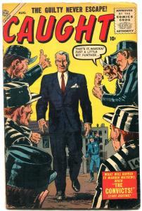 Caught #1 1956- Atlas Crime-Severin- Maneely VG/F