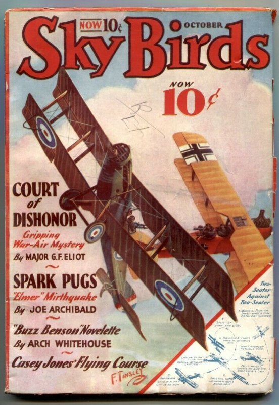 Sky Birds Pulp October 1933- Court of Dishonor VG/F