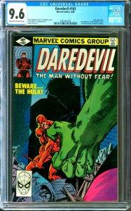 Daredevil #163 CGC Graded 9.6 Hulk appearance