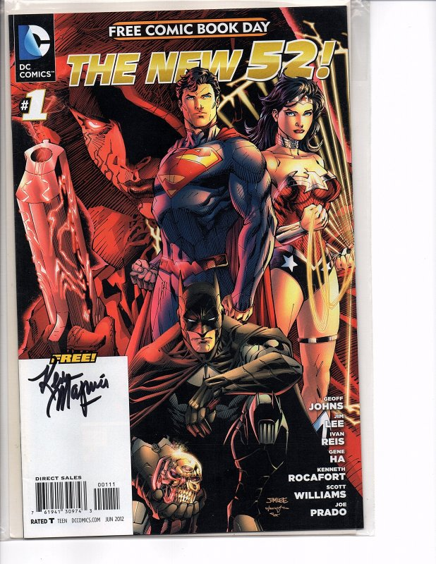 Dc Comics 2012 The New 52! Free Comic Book Day SIGNED by Kevin Maguire
