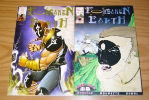 Forsaken Earth #1-2 VF/NM complete series - angel super hero - fuzzy dice comics