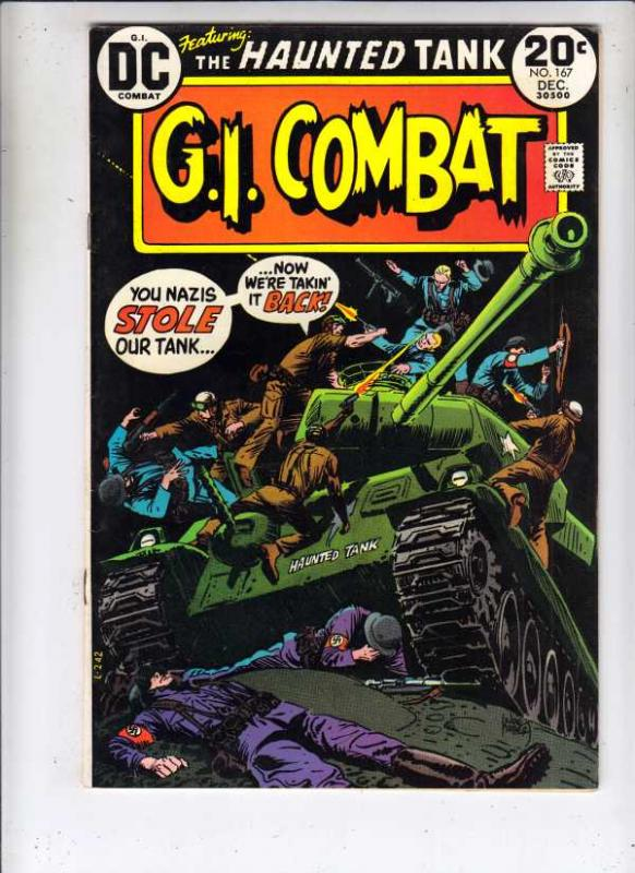 G.I. Combat #167 (Dec-73) VF- High-Grade The Haunted Tank