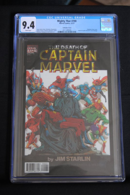 Mighty Thor #700, CGC 9.4, Lenticular Cover