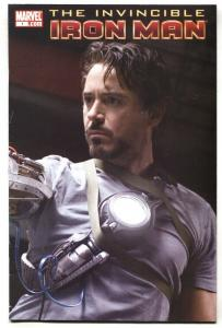Invincible Iron Man #1 2008 movie photo variant cover