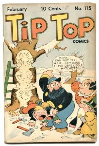 Tip Top Comics #115 1946- spanking cover VG