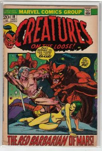 CREATURES ON THE LOOSE (1971 MARVEL) #19 VG A06128